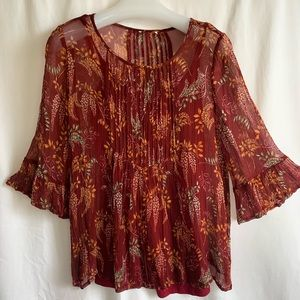 Sundance Catalog exclusive Winthrop Garden Top S